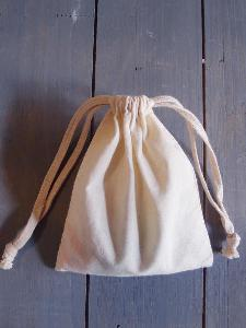 "Natural Cotton Bags 5x6 - 5"" x 6"""
