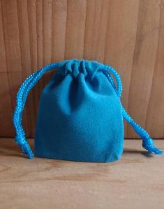 Turquoise Velvet Bags 2 x 2.5 - 100pcs/pack. 1 pack minimum