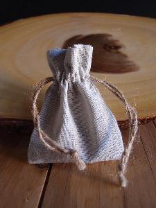 "Linen Bag with Jute Cord - 3"" x 4"""