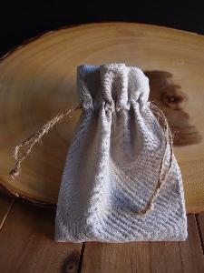 "Linen Bag with Jute Cord - 4"" x 6"""