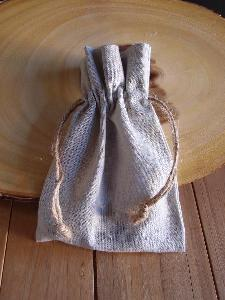 "Linen Bag with Jute Cord - 5"" x 7"""