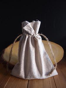 "Linen Bag with Jute Cord - 8"" x 10"""