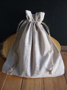 "Linen Bag with Jute Cord - 12"" x 14"""
