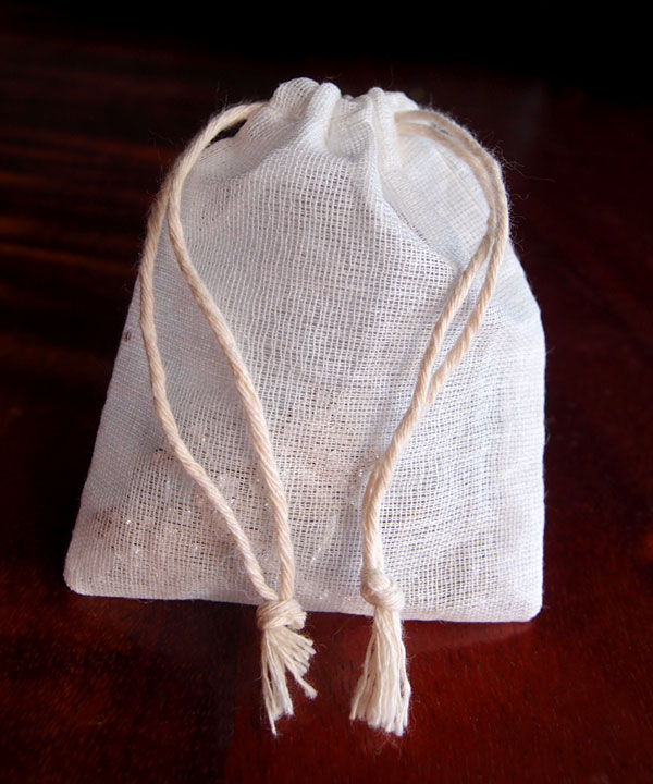"Natural Muslin Bags with Cotton Drawstring - 3"" x 4"""