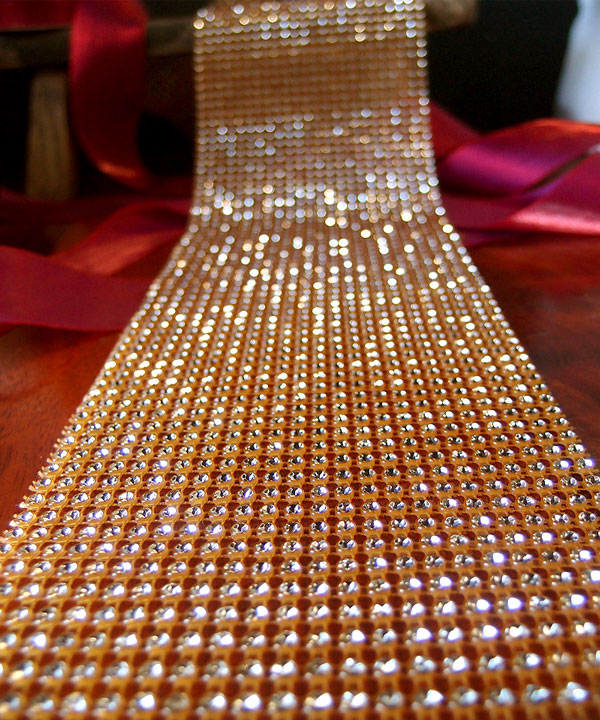 Diamond Mesh Wrap with Stones