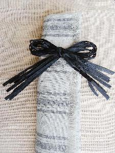 Black Raffia Pre Tied Bows - 12pcs/pack