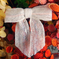 Bleached White Jute Pre-tied Bow