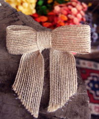 Natural Jute Pre-tied Bow