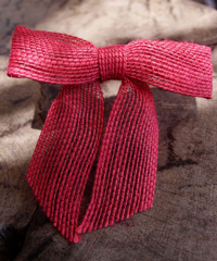 Red Jute Pre-tied Bow