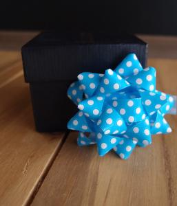 "Blue with White Dots 2"" Star Bows - 2"" Star Bows"