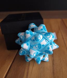 "Baby Shower Blue 2"" Star Bows - 2"" Star Bows"