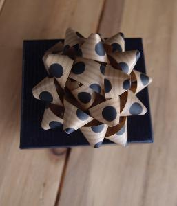 "Kraft Paper w/Black Dots 2"" Star Bows - 2"" Star Bows"
