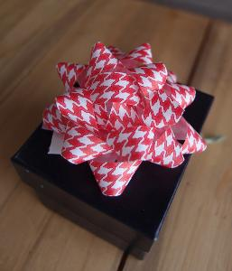 "Red & White Houndstooth 2"" Star Bows -  2"" Star Bows"