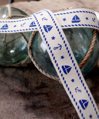 Nautical Printed Cotton Ribbon