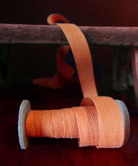Orange Linen/Cotton Blend Ribbon
