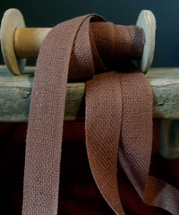 Brown Linen/Cotton Blend Ribbon