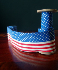 American Flag Printed Cotton Ribbon