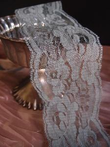 "Gray Chantilly Lace Ribbon   - 3"" x 10Y"