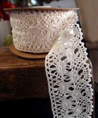 "Ivory Lace Ribbon - 2 1/3"" x 10Y"