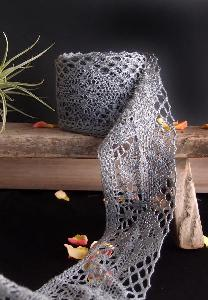 "Gray Cotton Crochet Lace - 2 1/3"" x 10Y"