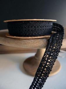 "Black Lace Ribbon - 1"" x 10Y"