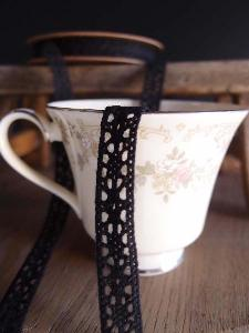 "Black Lace Ribbon - 1/2"" x 10Y"