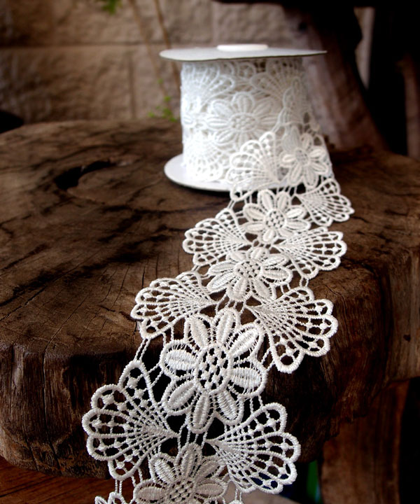 "Embroidery Floral Lace Ribbon - 2 3/4"" x 5Y"