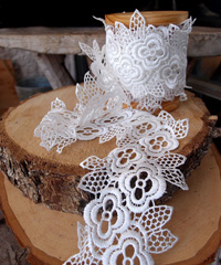 "Embroidery Floral Lace Ribbon - 3"" x 5Y"