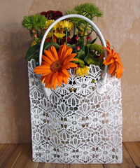 Stiffened Lace Tote Bag