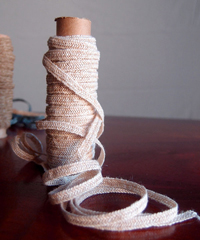Ivory Faux Linen Braided Cord