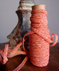 Orange Faux Linen Braided Cord