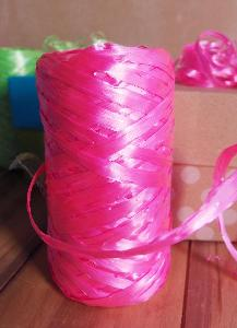 Synthetic Raffia Pink  -  5mm x 50 meters