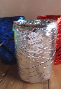 Metallic Silver Raffia - 5mm x 50 meters