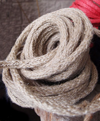 Light Natural Jute Wired Rope