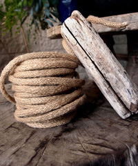 Natural Jute Wired Rope