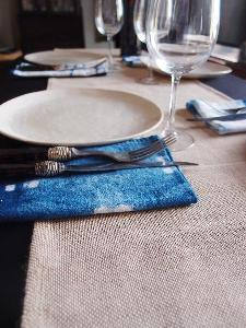 "Jute and Cotton Blend Table Runner - 13.5"" x 108"""