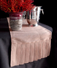Jute Cotton Blend Pleated Table Runner