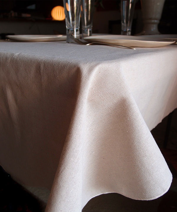 "Linen Table Cover with Selvage Edge - 54"" x 54"""