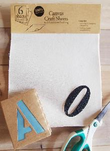 Canvas Laminated Craft Sheets
