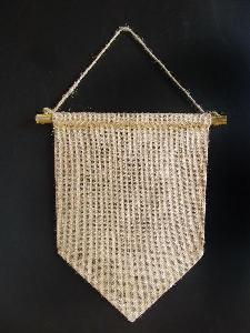 "Burlap Hanging Wall Pennant Banners - 8"" x 12"""