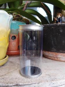 "Clear Cylinder with Tin Lid - 2"" x 4"""