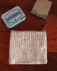 "Jute Flat Zipper Pouch  Small - 5.5""W x 4.5"""
