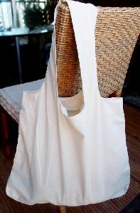 "Natural Cotton Tote Bags - 19"" x 17"" x 2"""