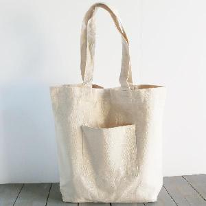 "Natural Washed Canvas Tote Bag - 14"" x 14"" x 5"""