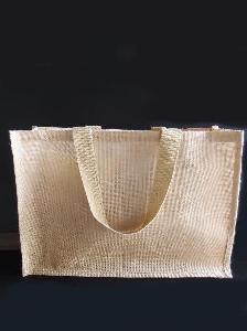 "Large Jute Tote Bag - 20"" x 13.5"" x 6"""