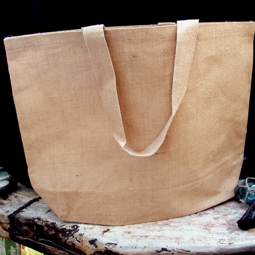 "Burlap Beach Bag - 24"" x 19"" x 6"""