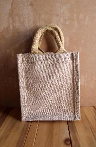 "Burlap Party Favor Tote - 6""W x 7""H x 4""D"