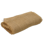 "Jute Table Cover with Fringed Edge - 64"" x 64"""