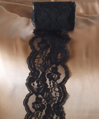 "Black Chantilly Lace  - 4"" x 10Y"