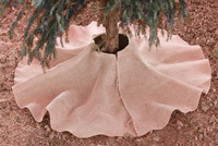 "Natural Burlap Christmas Tree Skirt 60 inch - 60"" Diameter"